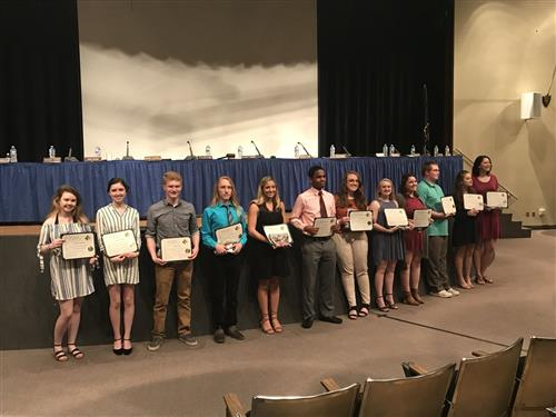 Top Five Percent of IHS Class of 2018